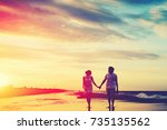 Romantic Couple Walking At The...