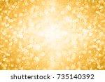 elegant gold white glitter... | Shutterstock . vector #735140392