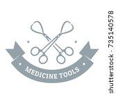instrument for medicine logo.... | Shutterstock .eps vector #735140578