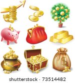 set of icons on the financial...   Shutterstock .eps vector #73514482