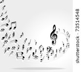 music notes background | Shutterstock . vector #73514548