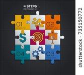 modern business infographic for ... | Shutterstock .eps vector #735150772