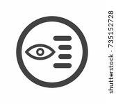 read more icon vector | Shutterstock .eps vector #735152728