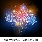 Vector Holiday Firework....