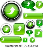 upload green signs. | Shutterstock .eps vector #73516693