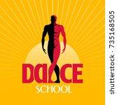 dance studio vector logo  icon. ... | Shutterstock .eps vector #735168505