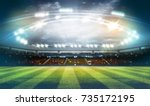 lights at night and football... | Shutterstock . vector #735172195