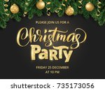 Christmas Party Poster Templat...