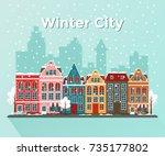 vector illustration of european ... | Shutterstock .eps vector #735177802