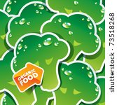 background from broccoli with... | Shutterstock .eps vector #73518268