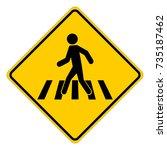 pedestrian crossing sign ... | Shutterstock .eps vector #735187462