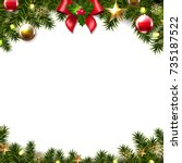 christmas border gradient mesh...