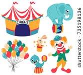 circus collection with rabbit