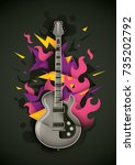 abstract style composition ... | Shutterstock .eps vector #735202792