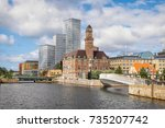 Urban cityscape of Malmo, Sweden