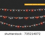 christmas lights isolated... | Shutterstock .eps vector #735214072