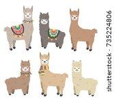 Cute Llama And Alpaca Set....