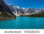 beautiful turquoise waters of... | Shutterstock . vector #735230242
