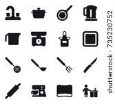 16 vector icon set   water tap  ... | Shutterstock .eps vector #735230752