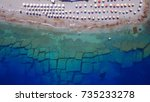 aerial birds eye view photo... | Shutterstock . vector #735233278