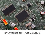 electronic circuit board close... | Shutterstock . vector #735236878
