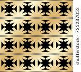 golden seamless pattern in art...   Shutterstock .eps vector #735237052