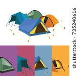 tent collection   Shutterstock .eps vector #735240616