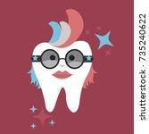 tooth avatar   Shutterstock .eps vector #735240622
