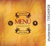 restaurant menu design. vector... | Shutterstock .eps vector #735240928