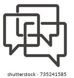 icon dialog | Shutterstock .eps vector #735241585