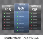 hosting plans. pricing plans ... | Shutterstock .eps vector #735242266