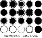 grunge post stamps collection ... | Shutterstock .eps vector #735247906