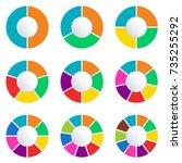 wheel infographics template.... | Shutterstock . vector #735255292