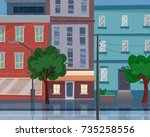 Houses On Street With Road In...
