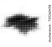 abstract grunge grid polka dot... | Shutterstock . vector #735260458