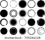 grunge post stamps collection ... | Shutterstock .eps vector #735266128