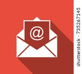 mail and e mail icon isolated... | Shutterstock .eps vector #735267145
