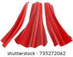 superhero red cape isolated on... | Shutterstock . vector #735272062
