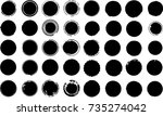 grunge post stamps collection ... | Shutterstock .eps vector #735274042