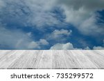nature cloudscape with blue sky ... | Shutterstock . vector #735299572