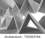 abstract geometric concrete... | Shutterstock . vector #735303766
