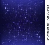 blue twinkle background   Shutterstock .eps vector #735305485