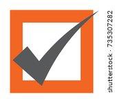 voting symbols vector design.... | Shutterstock .eps vector #735307282