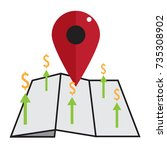 land price icon  land price
