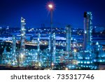 oil industry refinery factory ... | Shutterstock . vector #735317746