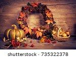 Autumn Wreath And Still Life...