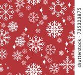 pattern seamless snowflake for... | Shutterstock .eps vector #735323875