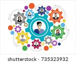 flat design illustration... | Shutterstock .eps vector #735323932