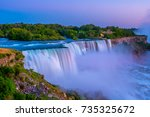 niagara falls in the summer... | Shutterstock . vector #735325672