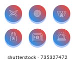 protection and security icon... | Shutterstock .eps vector #735327472
